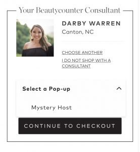Beauty Counter Pop Up