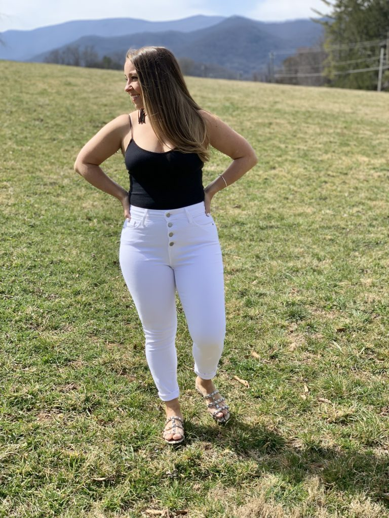 Bodysuit with White Jeans