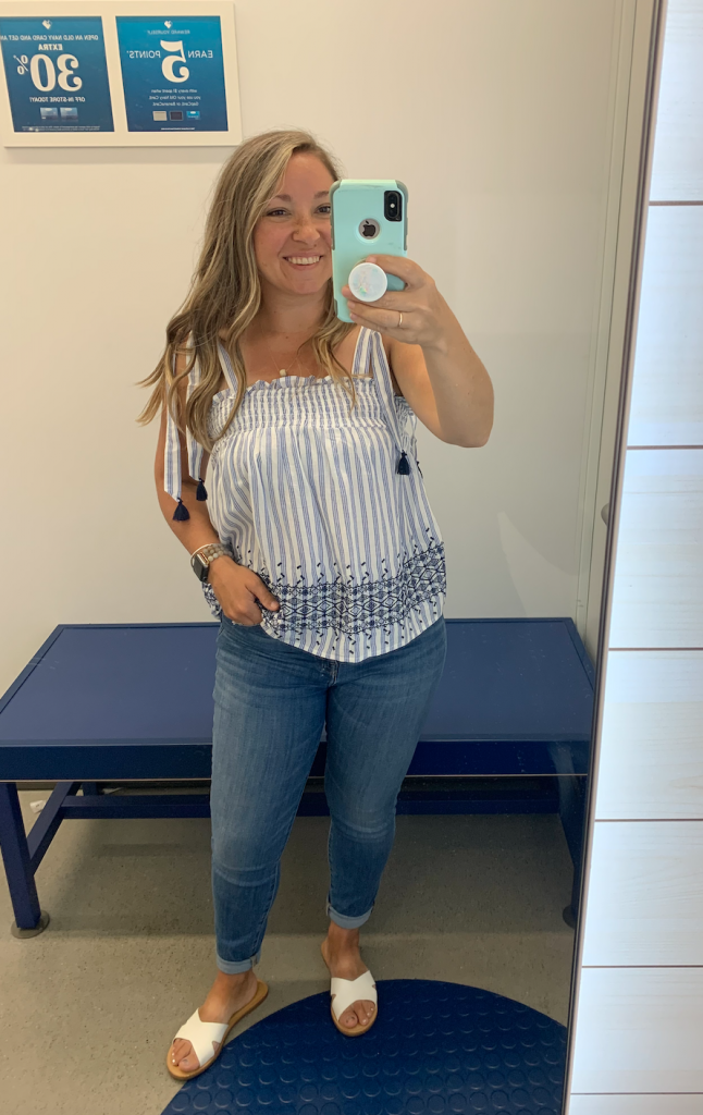 Old Navy Red White Blue Tops