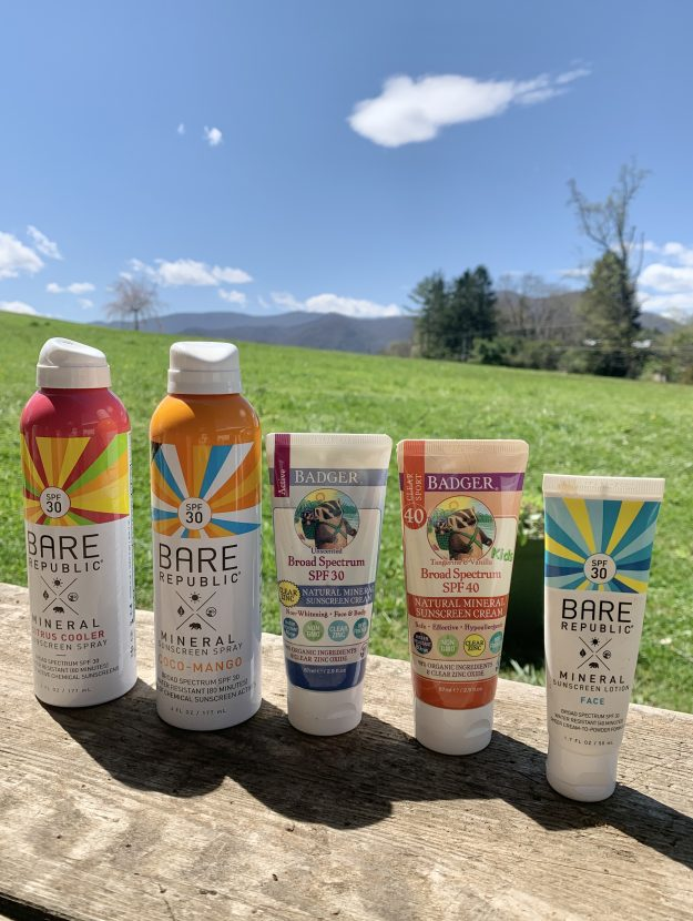 Clean sunscreen options
